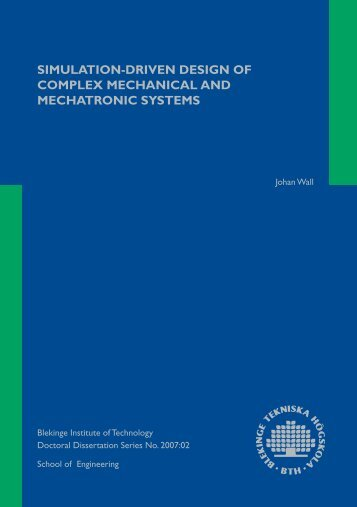 simulation-driven design of complex mechanical and mechatronic ...