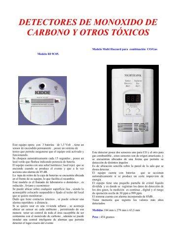 Detectores de Monoxido y Humo - QuimiNet.com