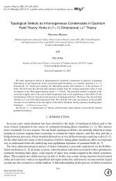 Topological Defects as Inhomogeneous Condensates in Quantum ...