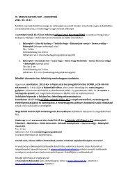 IV. MEDVEHAGYMA NAP – BAKONYBÉL 2011. 04. 16-17. A ...