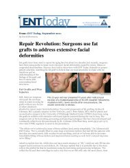 ENT Today September 2011 - Tribeca Plastic Surgery