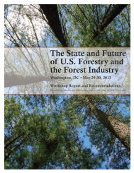 The State and Future of U.S. Forestry and the Forest Industry (May ...