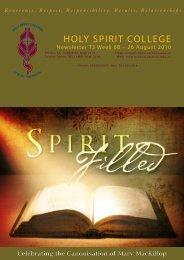 COMMuNITY BIllBOARD - Holy Spirit College