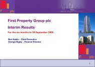 Interim Results 2009 - Analyst Presentation - First Property Group plc