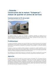 """- Ostende - Construction de la maison """"Schaperye"""": maison de ..."""