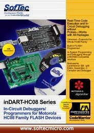 Softec INDART-HC08/QY datasheet: pdf - Octopart