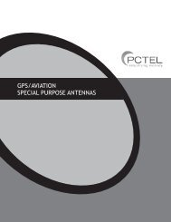 GPS/AviAtion SPeciAl PurPoSe AntennAS - PCTEL | Antenna