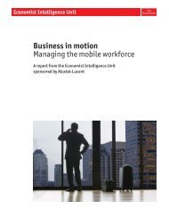 Business in motion Managing the mobile workforce - Alcatel-Lucent