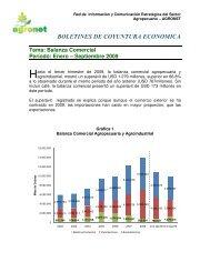 Boletin balanza comercial Tercer trimestre 2009 - Agronet