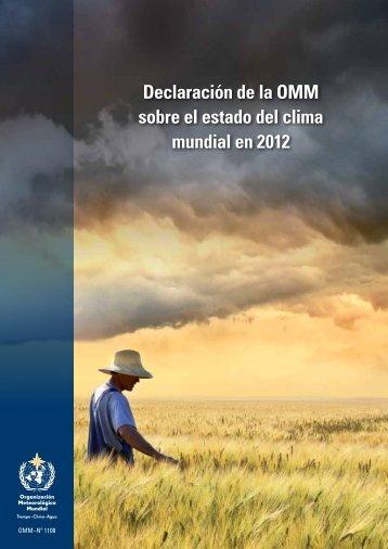 Declaración de la OMM sobre el estado del clima ... - E-Library - WMO
