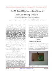 GSM Based Flexible Calling System For Coal Mining Workers