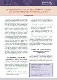 The establishment of a UN Parliamentary Assembly and the role of ...