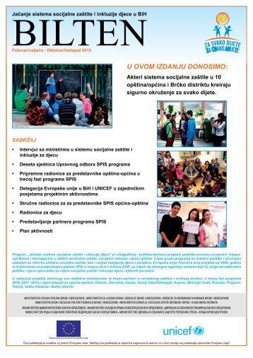 UNICEF_SPIS_Bilten_2012 - Federalno ministarstvo rada i ...