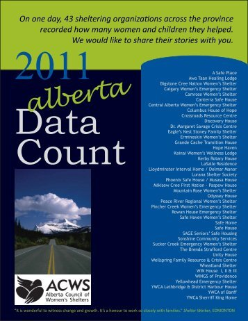 AB Data Count 2011 - Alberta Council of Women's Shelters