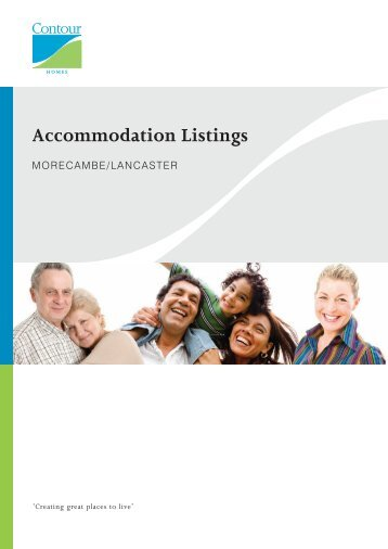 Morecambe and Lancaster Accommodation Listings - Contour Homes