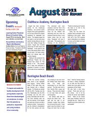 August 2011 - ClubHouse Theatre Performs - Boys and Girls Clubs ...