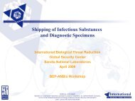 Shipping of Infectious Substances and Diagnostic Specimens
