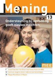 Ondersteuning bij opvoeding geeft nieuwe inzichten - MEE Zuidoost ...