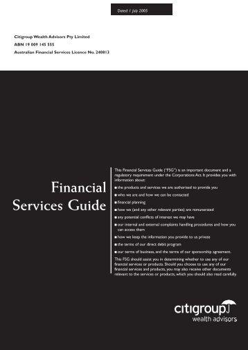 Financial Services Guide - Associazione Italia-Australia