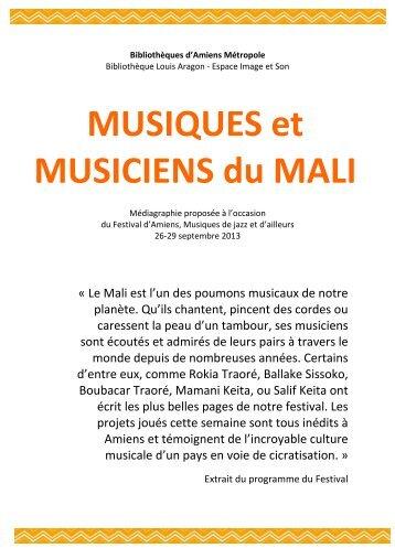 Médiagraphie MALI - Bibliothèques d'Amiens Métropole