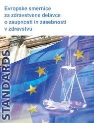 Evropske smernice za zdravstvene delavce o zaupnosti in ...