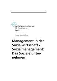 Curriculum Sozialmanagement 2012 - 4 Durchgang - Stand ... - KHSB