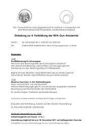 Einladung zur 4. Fortbildung der MFA-Gyn ... - Bvf-saarland.de