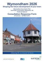 Wymondham AAP 2013 public consultation response form [PDF]
