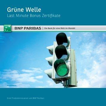 Last Minute Bonus Zertifikate - BNP Paribas