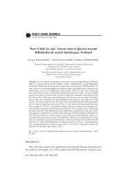 "Post-""Little Ice Age"" retreat rates of glaciers around Billefjorden in ..."