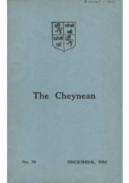 The Cheynean December 1954 mine - Sloane Grammar School ...