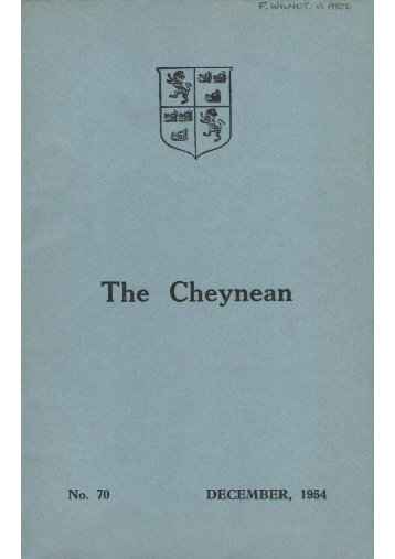 The Cheynean December 1954 mine - Sloane Grammar School ...