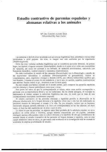 Estudio contrastivo de paremias españolas y ... - Paremia.org