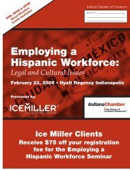Employing a Hispanic Workforce Conf ALT.qxp - Ice Miller