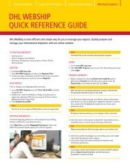 Download the DHL WebShip Quick Reference Guide (PDF)