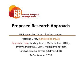 Proposed Research Approach - CDKN Global
