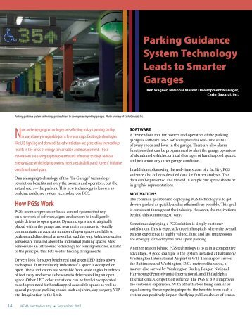 Parking Guidance System Technology Leads to Smarter Garages