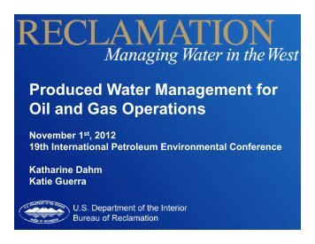 Produced Water Management for Oil and Gas Operations - IPEC