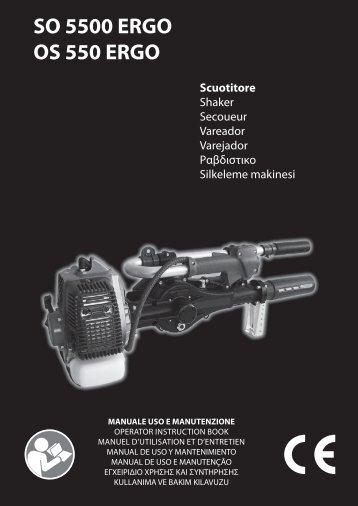 SO 5500 ERGO OS 550 ERGO Scuotitore - Oleo-Mac