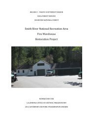 Smith River National Recreation Area Fire Warehouse Restoration ...