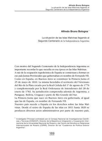 Alfredo Bruno Bologna - Ministerio de Relaciones Exteriores y Culto