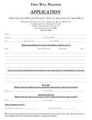 Free Wills Program Application - Cumberland County