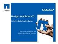 NetApp NearStore VTL - Empalis Consulting