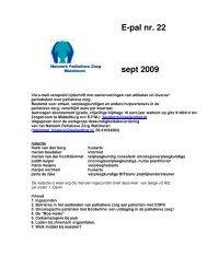 E-pal nr. 22 sept 2009 - V&VN Palliatieve Zorg