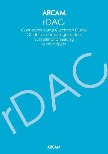Connections and Quickstart Guide Guide de démarrage ... - Arcam