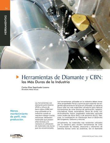 Herramientas de Diamante y CBN: - Revista Metal Actual