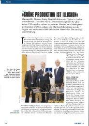 Die Typico Geschäftsführer Dr. Thomas König, Walter Klocker und ...