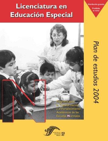 Plan de estudios 2004 - dgespe - Secretaría de Educación Pública
