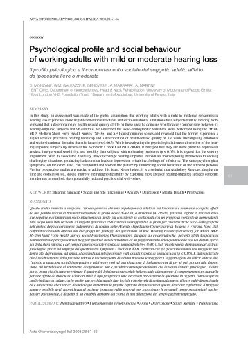 Psychological profile and social behaviour of working adults - Acta ...