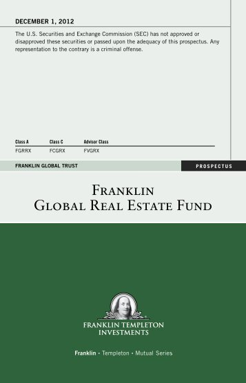Franklin Global Real Estate Fund Prospectus - Interactive Brokers